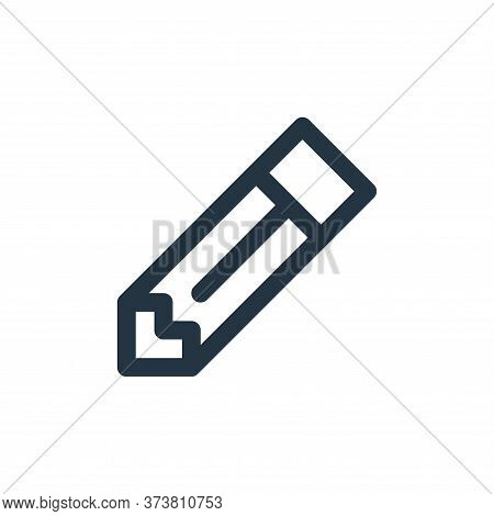 pencil icon isolated on white background from user interface collection. pencil icon trendy and mode