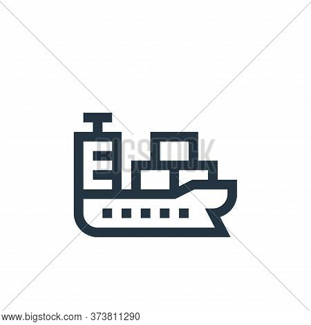 cargo ship icon isolated on white background from industrial process collection. cargo ship icon tre