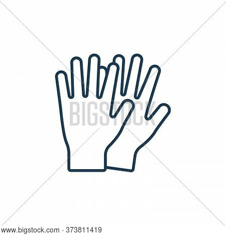 gloves icon isolated on white background from clothes and outfit collection. gloves icon trendy and