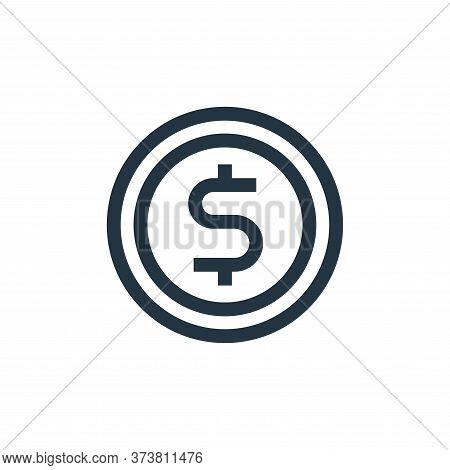 coin icon isolated on white background from advertisement collection. coin icon trendy and modern co