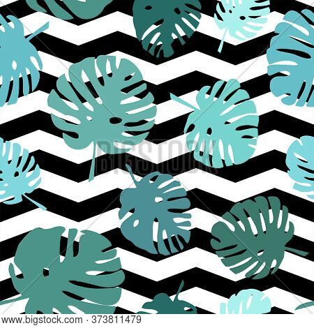 Tile Tropical Vector Pattern For Seamless Decoration Wallpaper
