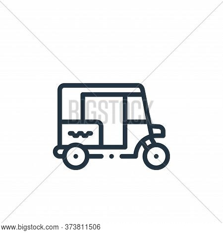 Tuk tuk icon isolated on white background from taxi service collection. Tuk tuk icon trendy and mode