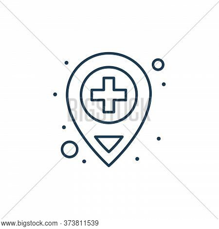 location icon isolated on white background from coronavirus collection. location icon trendy and mod