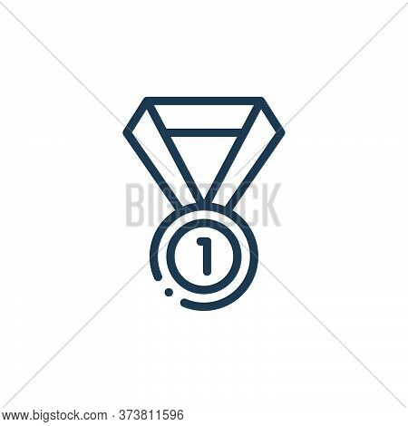 medal icon isolated on white background from autoracing collection. medal icon trendy and modern med