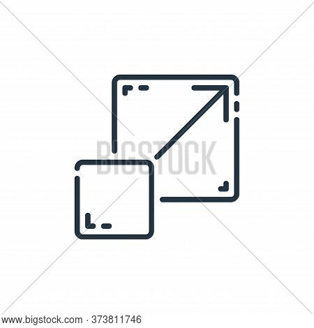 full screen icon isolated on white background from user interface collection. full screen icon trend