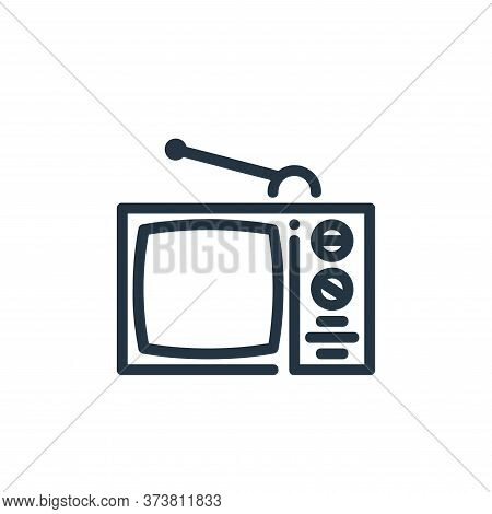 television icon isolated on white background from ricon collection. television icon trendy and moder