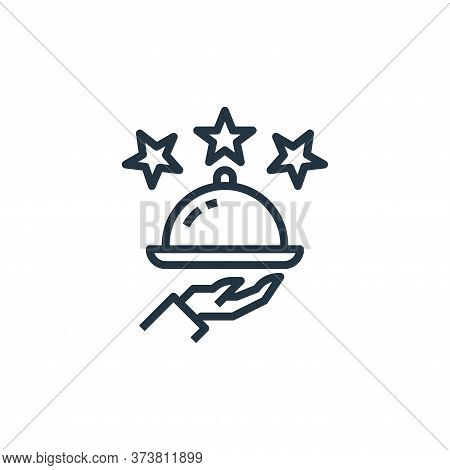 rating icon isolated on white background from food delivery collection. rating icon trendy and moder
