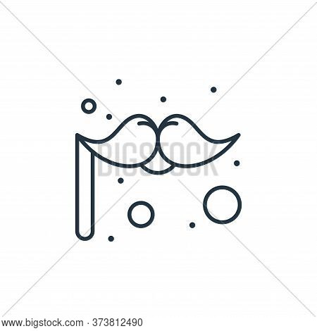 moustache icon isolated on white background from brazilian carnival collection. moustache icon trend