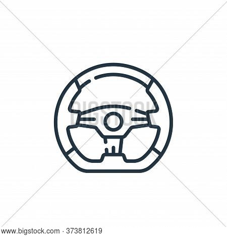 steering wheel icon isolated on white background from auto racing collection. steering wheel icon tr