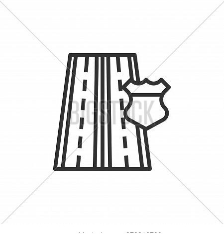 highway icon isolated on white background from motorway collection. highway icon trendy and modern h