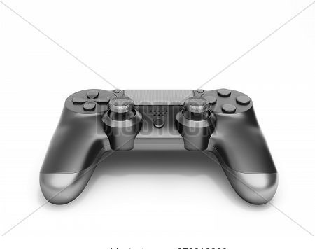 Black Gamepad Isolated On White Background 3d Rendering