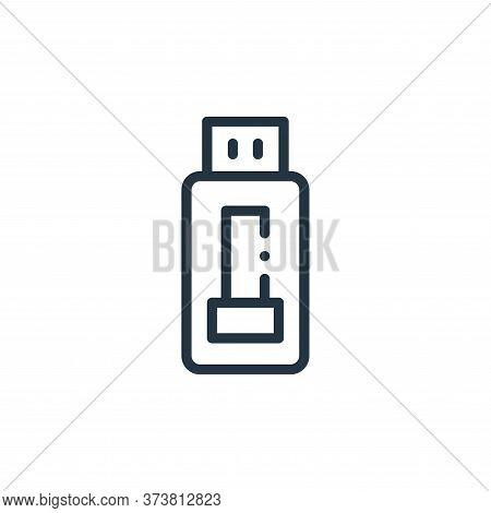 usb icon isolated on white background from electronic devices collection. usb icon trendy and modern