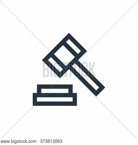 justice icon isolated on white background from insurance collection. justice icon trendy and modern