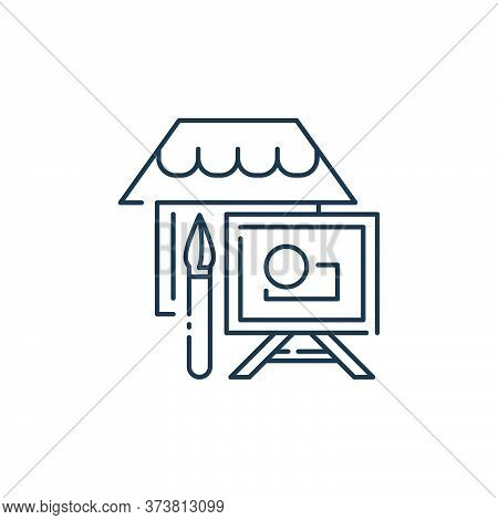 painting icon isolated on white background from stay at home collection. painting icon trendy and mo