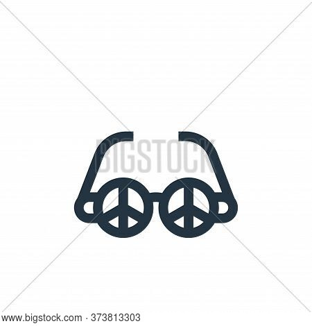 sunglasses icon isolated on white background from hippies collection. sunglasses icon trendy and mod