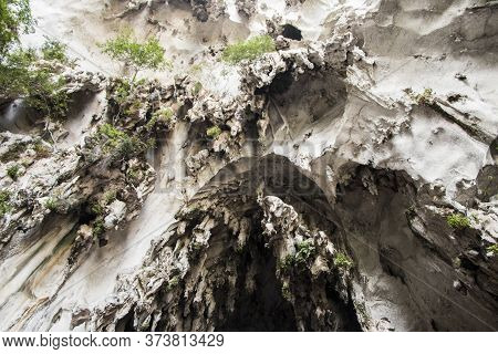 Stalactites Batu Caves Limestone Caves Texture Of Wall Or Rocks