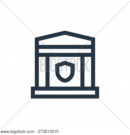bank icon isolated on white background from insurance collection. bank icon trendy and modern bank s