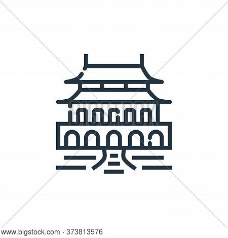 forbidden city icon isolated on white background from world monument collection. forbidden city icon