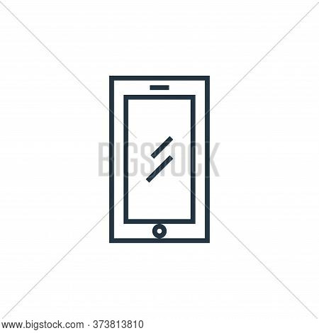 smartphone icon isolated on white background from school collection. smartphone icon trendy and mode