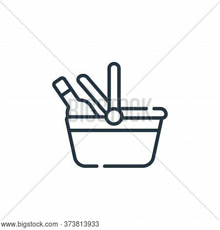 picnic basket icon isolated on white background from free time collection. picnic basket icon trendy