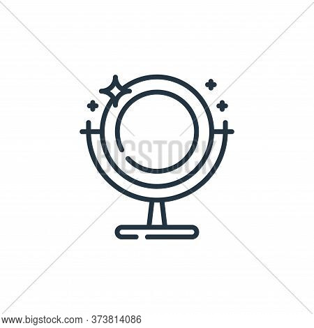 mirror icon isolated on white background from hygiene routine collection. mirror icon trendy and mod