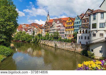 TUBINGEN, GERMANY- JULY, 07, 2014: Tubingen, an old town on the River Neckar, Baden-Wurttemberg, Germany.