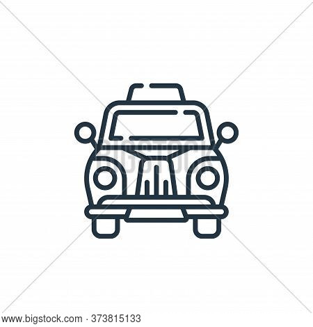 taxi icon isolated on white background from england collection. taxi icon trendy and modern taxi sym