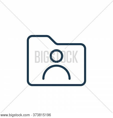 user icon isolated on white background from folder collection. user icon trendy and modern user symb