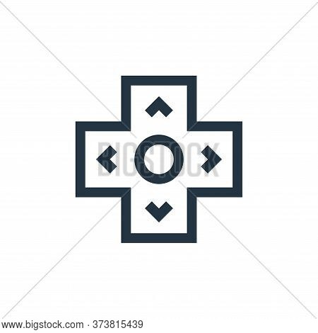 arrows icon isolated on white background from video game elements collection. arrows icon trendy and
