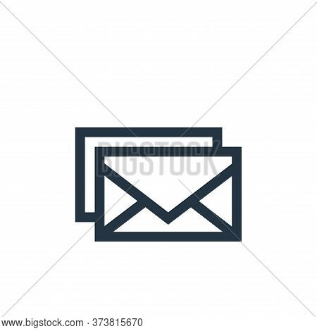 email icon isolated on white background from advertisement collection. email icon trendy and modern