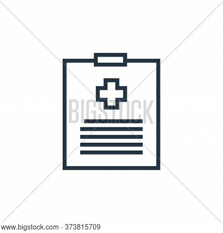 report icon isolated on white background from hospital collection. report icon trendy and modern rep