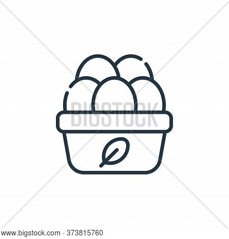 organic eggs icon isolated on white background from animal welfare collection. organic eggs icon tre