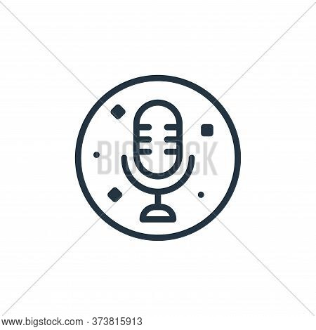 microphone icon isolated on white background from music and sound collection. microphone icon trendy