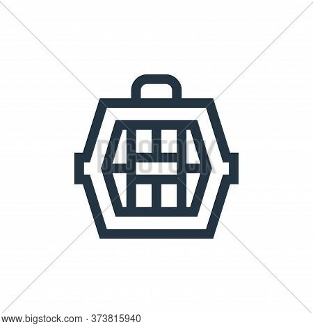 pet carrier icon isolated on white background from pet shop collection. pet carrier icon trendy and