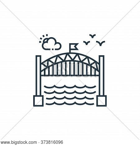 bridge icon isolated on white background from tourism collection. bridge icon trendy and modern brid