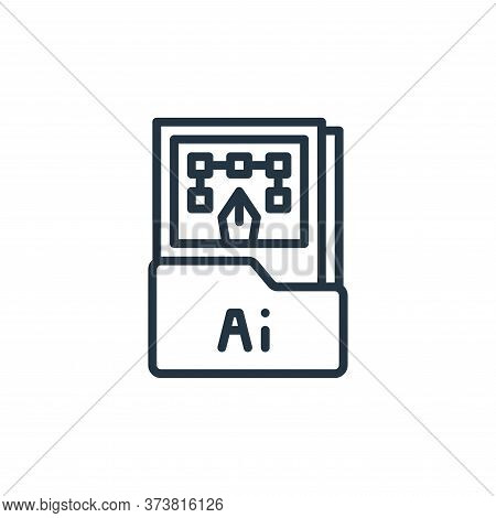 ai file icon isolated on white background from graphic design collection. ai file icon trendy and mo