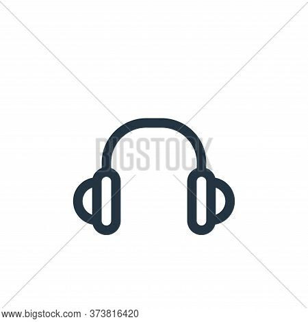 headset icon isolated on white background from music collection. headset icon trendy and modern head