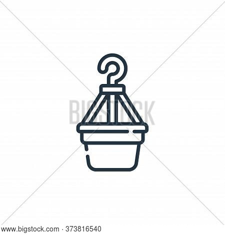 plant pot icon isolated on white background from plastic products collection. plant pot icon trendy