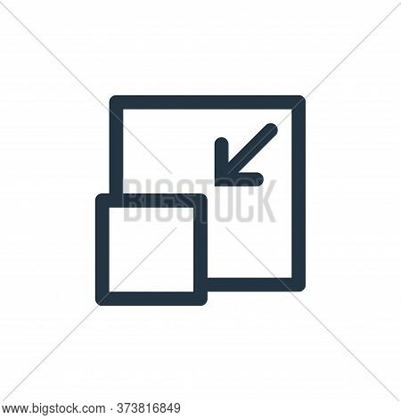 minimize icon isolated on white background from multimedia collection. minimize icon trendy and mode