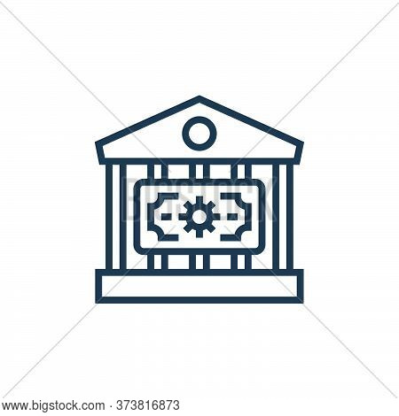 bank icon isolated on white background from economic crisis collection. bank icon trendy and modern