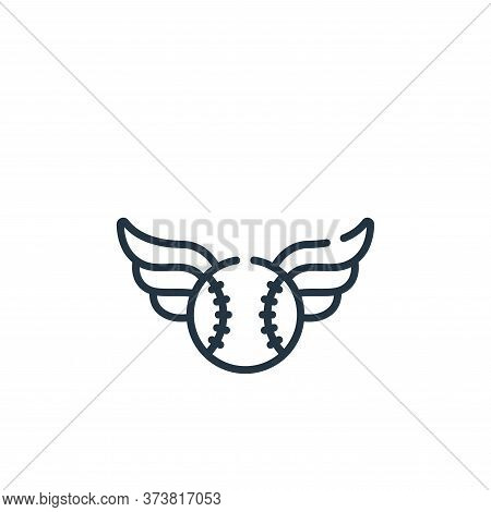 ball icon isolated on white background from baseball collection. ball icon trendy and modern ball sy