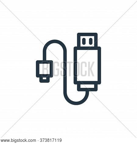 usb cable icon isolated on white background from technology collection. usb cable icon trendy and mo