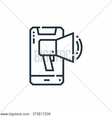 smartphone icon isolated on white background from marketing collection. smartphone icon trendy and m