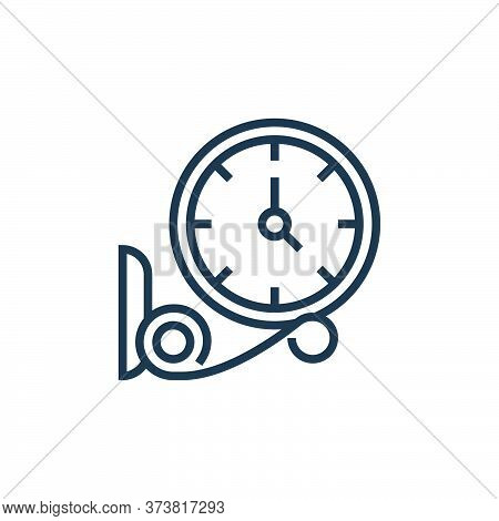 clock icon isolated on white background from railway collection. clock icon trendy and modern clock