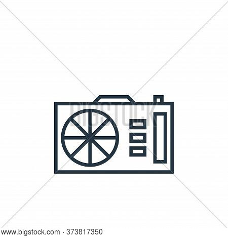 camera icon isolated on white background from school collection. camera icon trendy and modern camer