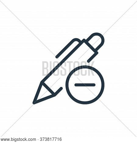 remove icon isolated on white background from work office supply collection. remove icon trendy and