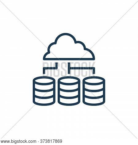 cloud hosting icon isolated on white background from work from home collection. cloud hosting icon t