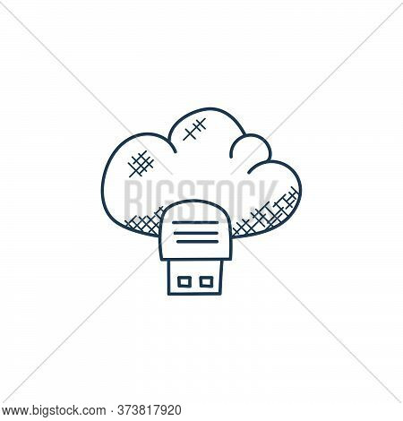 cloud storage icon isolated on white background from technology collection. cloud storage icon trend