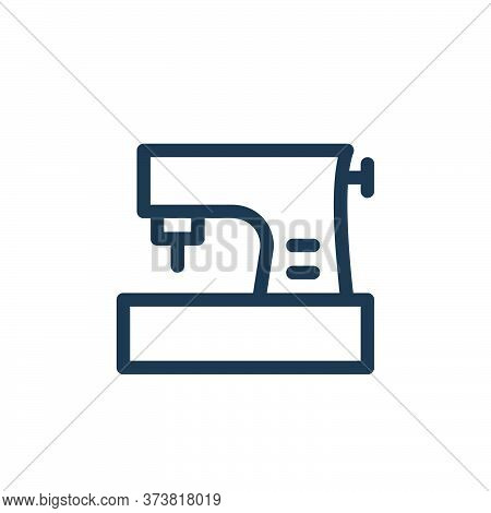 sewing machine icon isolated on white background from electronics collection. sewing machine icon tr