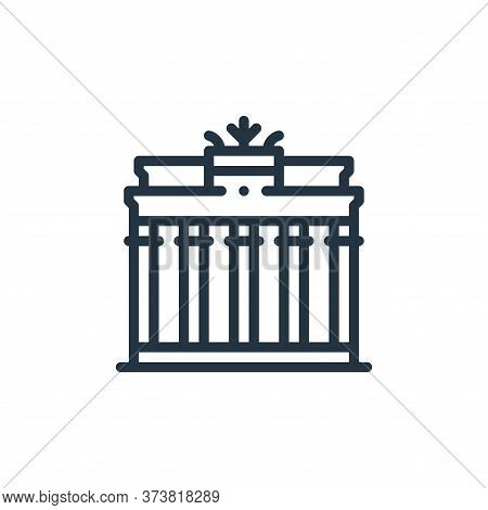brandenburg gate icon isolated on white background from europe collection. brandenburg gate icon tre